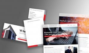 Grafisk design och formgivning, logodesign,, grafisk profil. Produktion och design av webbsajt.